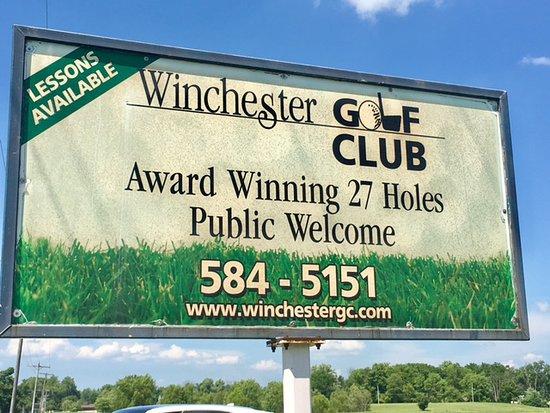 วินเชสเตอร์, อินเดียน่า: Winchester Golf Club Signage