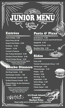 Chez Yvonne's: Please check out our menu for 2018. 😊