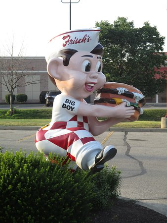 Tipp City, OH: Iconic Big Boy statue outside the restaurant