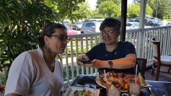 Westmont, IL: Alexandra and Ana Maria enjoying their feast.