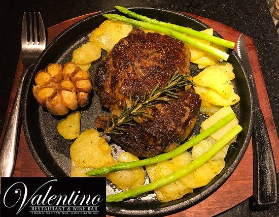 Valentino Restaurant & Wine Bar: Australian grass fed rib-eye