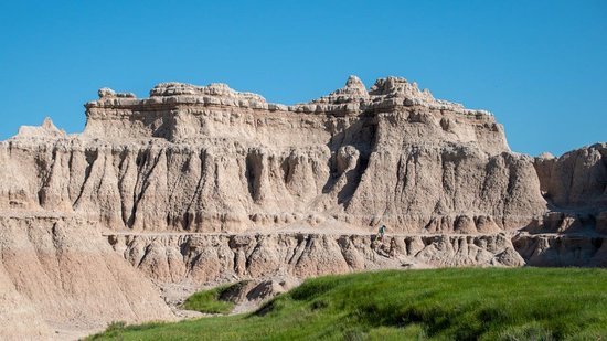 Interior, SD: Layers of rock are obvious