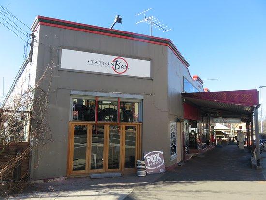 Station Bar is next to Katoomba railway station