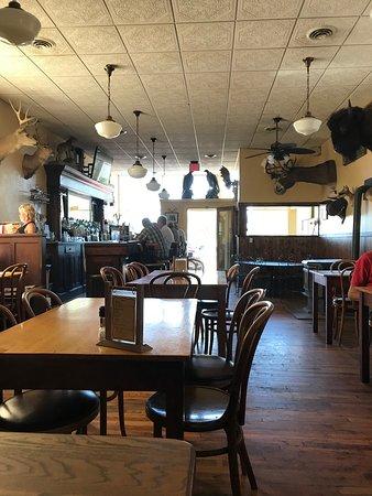 Yampa, CO: Antler's bar.