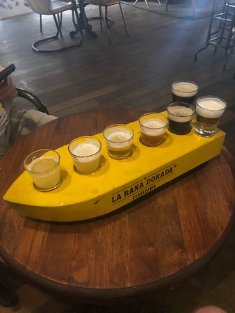 La Rana Dorada: Beer Flight