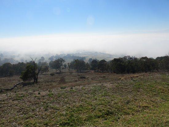 Mount Panorama Motor Racing Circuit: View from the top of Mount Panorama