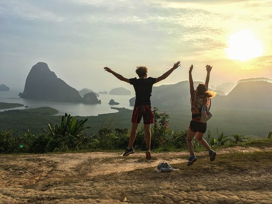 Bang Tao Beach, Thái Lan: You've made it to the top! Sunrise trekking trip in Phangnga Treasures x James Bond island tour
