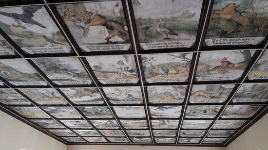 Jablonne v Podjestedi, Czech Republic: Aesop's Fables ceiling panels