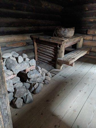 Taltsy, Rússia: a sauna stove