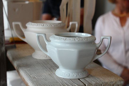 Selb, Germany: In the drying process the porcelain shrinks by 16%
