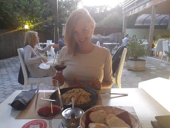 Molina di Ledro, İtalya: spageti carbonara