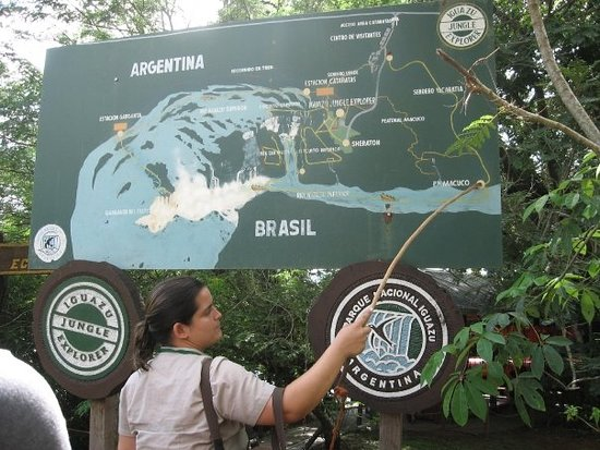 Cataratas De Iguazu Lado Argentino Mapa.Mapa Picture Of Cataratas Del Iguazu Lado Argentino