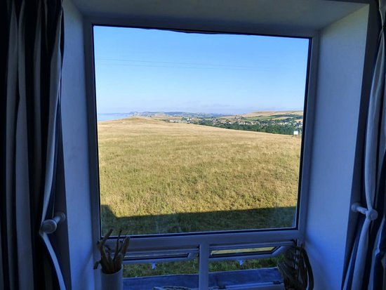 Burton Bradstock, UK: side window view from Golden Cap