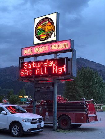 Bull Moose Saloon: easy to find