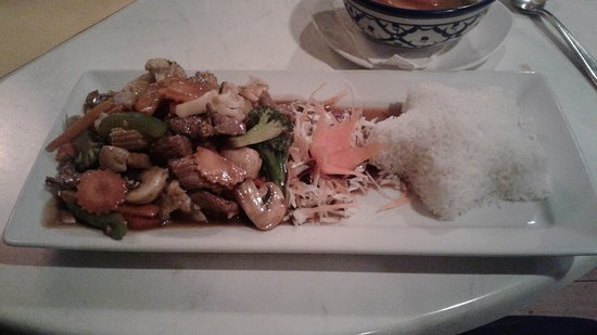 Tongtara Thai Restaurant: Beef and oyster sauce with rice