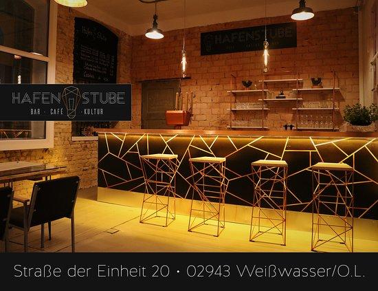 Weisswasser, Germany: Die Bar der Hafenstube fällt mit ihren ausgefallenen Design gleich ins Auge.