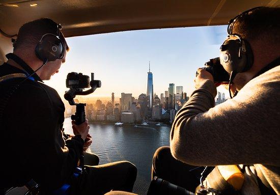 Kearny, NJ: Sunrise Helicopter Flights Over NYC Skyline
