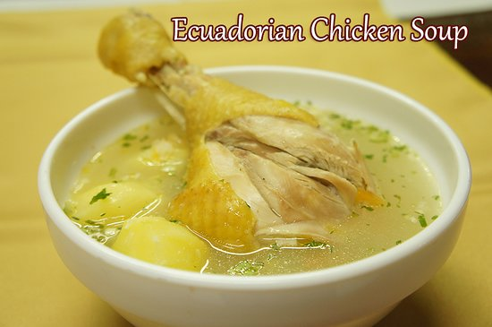 Sangolqui, Ισημερινός: Traditional chicken soup
