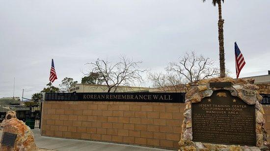 Chiriaco Summit, CA: Korean Memorial Wall