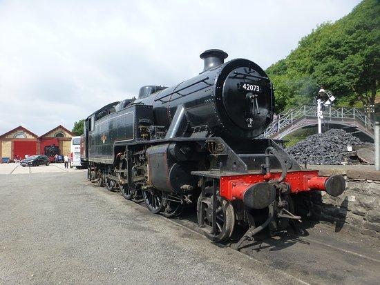 Haverthwaite, UK: railway yard