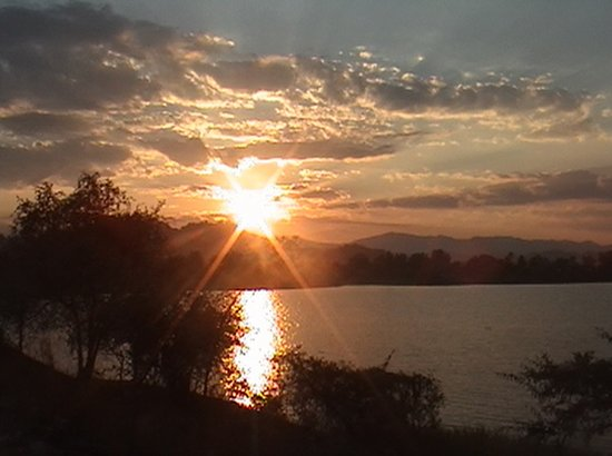 Mangochi, Malawi: At the Shire. The garden restaurant and bar are now closer to the waterfront.