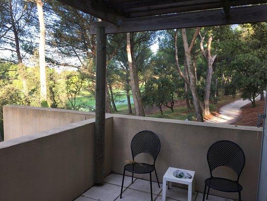 Saumane-de-Vaucluse, France: Vanaf balkon