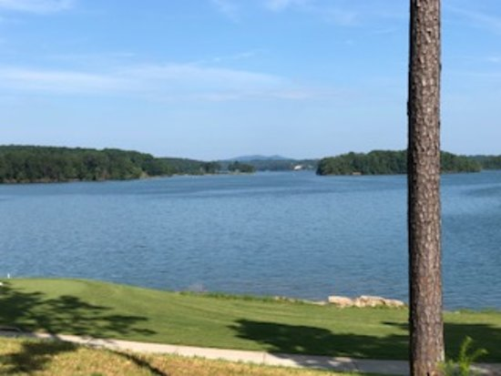 Beautiful Lake Lanier with the mountains in the background.