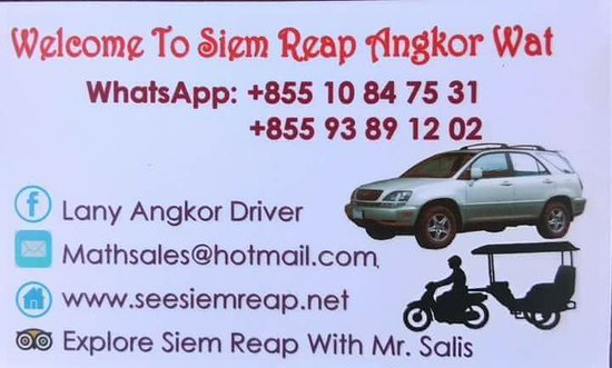 Tuk Tuk Car Driver Tour Guide Siem Reap