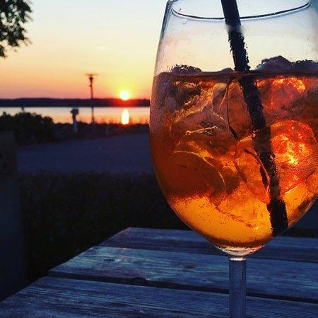 Drink i solnedgangen