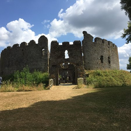 Restormel Castle: View from near the Visitors centre
