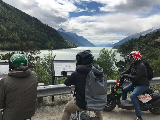 3-Hour Scooter Tour of Skagway, Alaska: Pit stop on our way to Dyea.