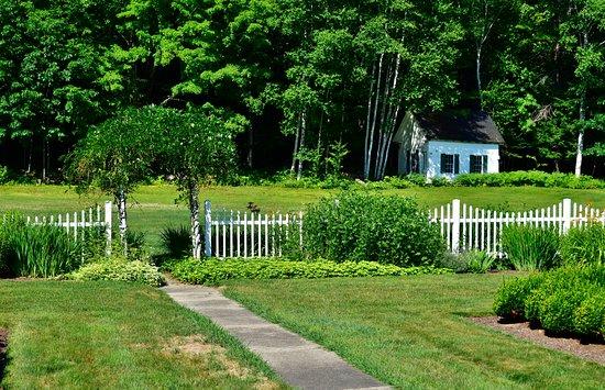 Harrison, ME: The garden in the backyard of Greenwood Manor