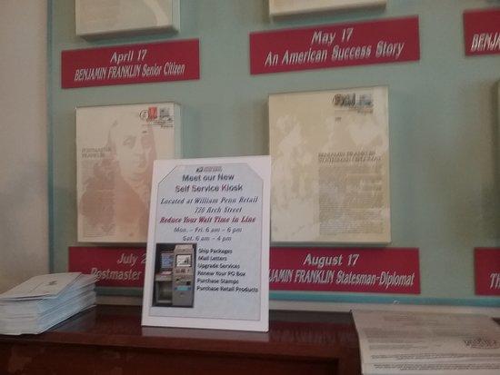 B. Free Franklin Post Office U0026 Museum: Info Counter