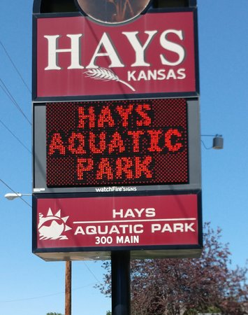 Hays Aquatic Park sign