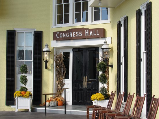 Congress Hall : Decorated for fall.