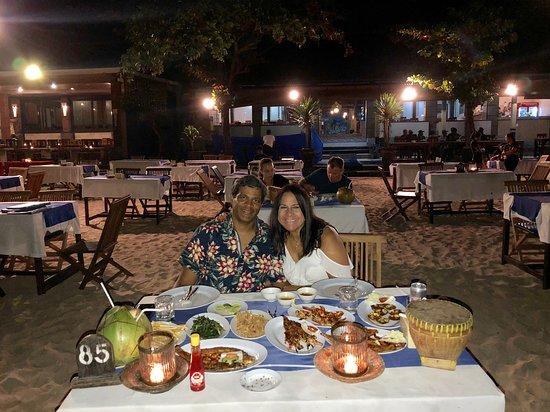 Blue Marlin Cafe Dinner Table With Birthday
