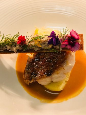The Clubhouse: red mullet with crab toast & lobster