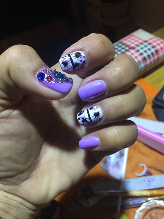 Gel Pedicure With Stone Design Picture Of Mc Nail Spa Siem Reap