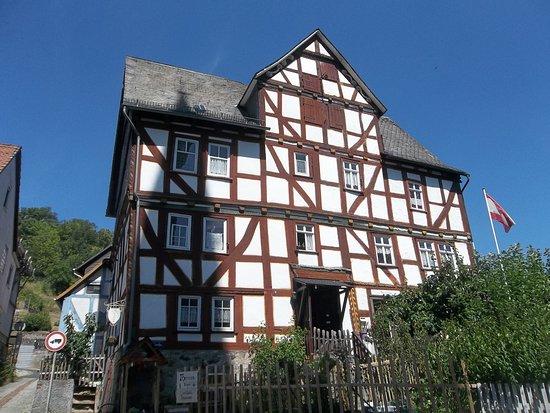 Biedenkopf, Deutschland: Das Schenkbarsche Haus von außen