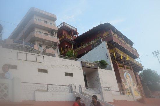 Rear side of hotel facing ganges/ghats