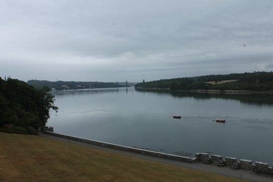 Plas Newydd House and Garden: A view of the Menai Straight from Plas Newydd
