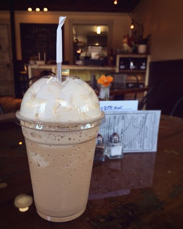 Winterport, Maine: Coffee frappe! The dirty chai flavor is not to be missed.