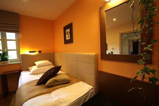 Platan Vararok Guest House: Standard egyágyas szobánk, várárokra néző kilátással, melyet üzleti partnereinknek illetve egyed