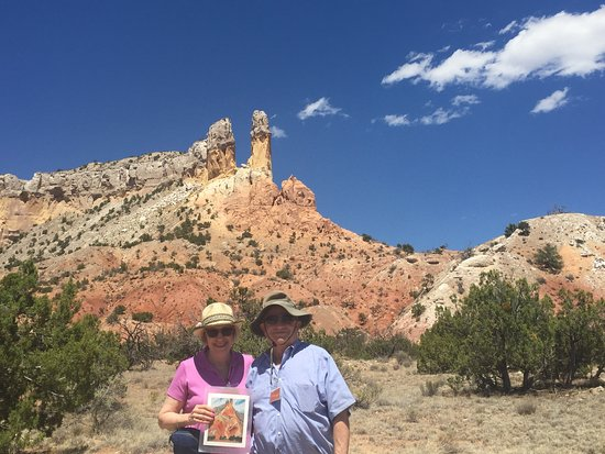 Ghost Ranch: Holding copy of O'Keefe's painting of this hill.