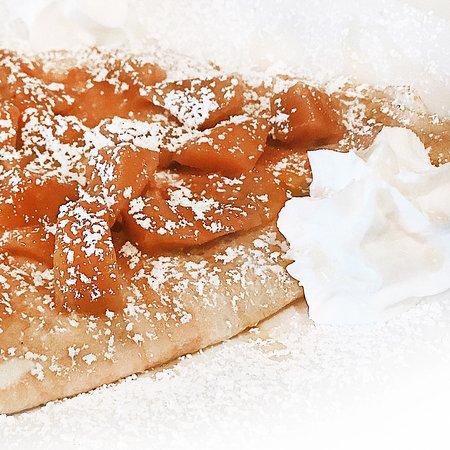 Mango Jam Crêpe! Mmm, you have to try it! La Crêpe Bakery & Cafe, restaurant in Berea, Ohio.