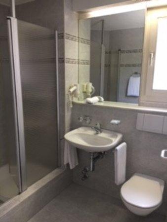 Schiers, Svizzera: Bagno della camera no. 3
