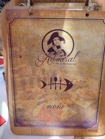 Municipalité de Herceg-Novi, Monténégro: restaurant menu