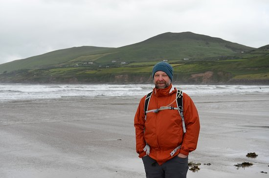 Inch, Irland: The beach on an overcast day