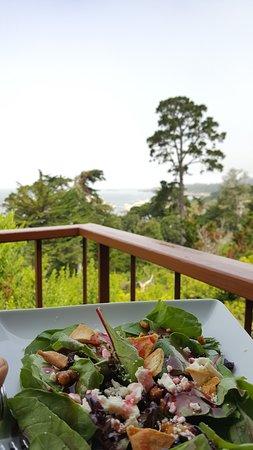 Hyatt Residence Club Carmel, Highlands Inn: salad on the balcony