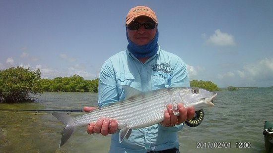 Antigua Fly Fishing & Light Tackle Charters: a happy camper